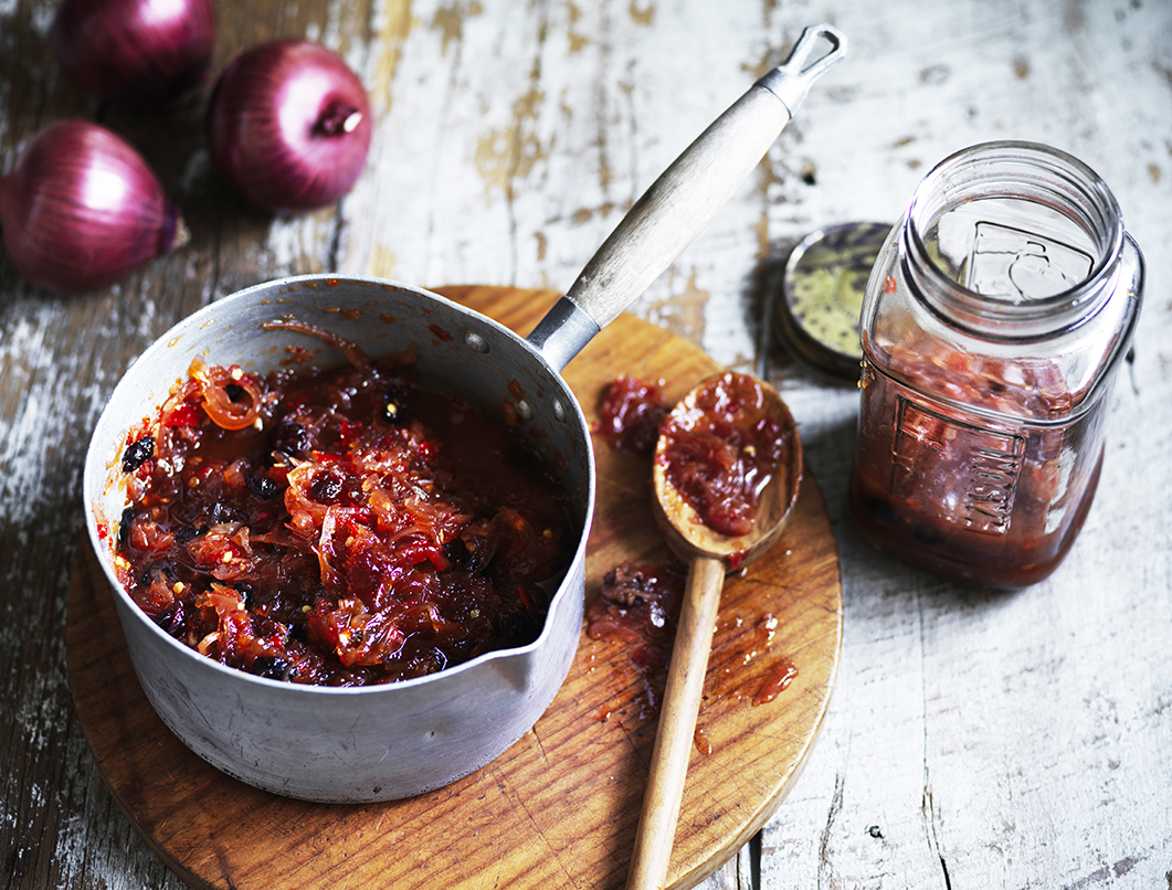 Chilli onion and cranberry jam