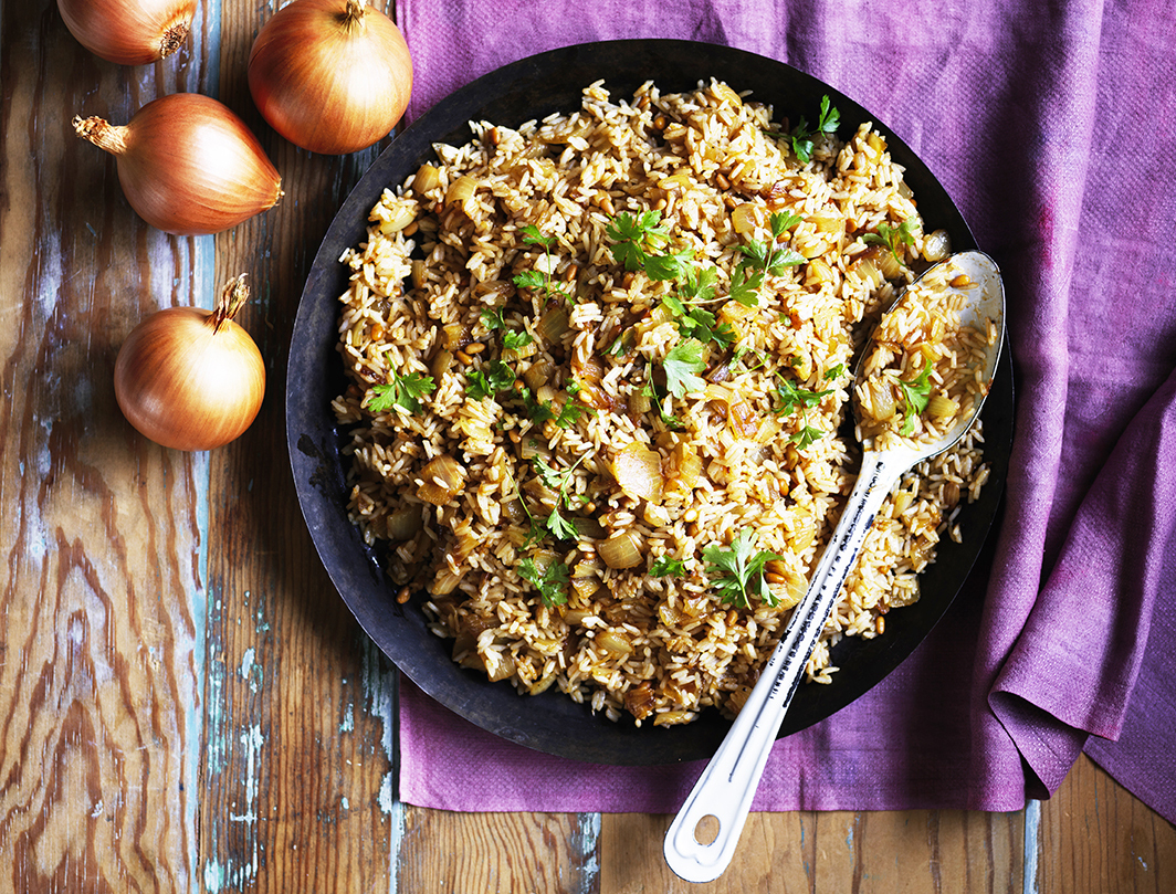 Spiced onion rice
