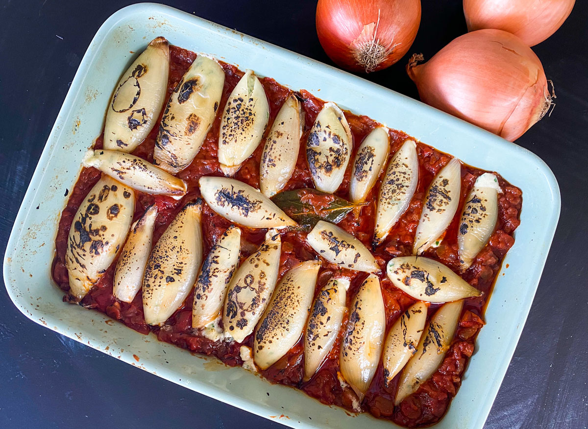Baked Onion Cannelloni